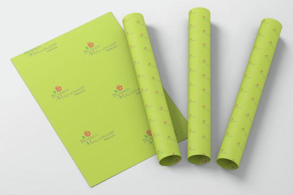 Blumenpapier mit individuellem Firmendruck