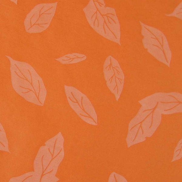Seidenpapier Blätter rostrot 50cm
