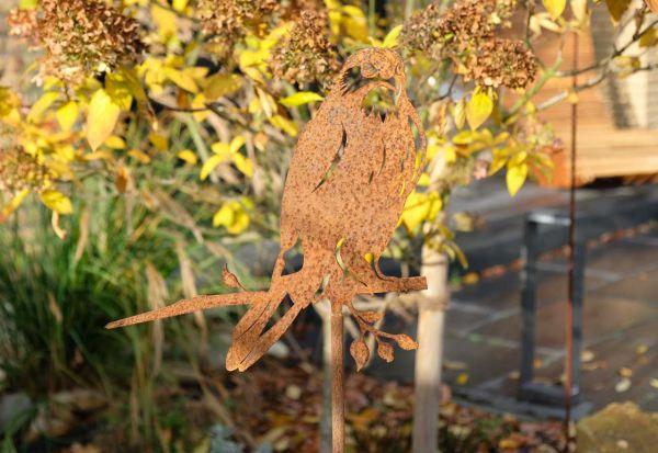 Gartenstecker Glücksvogel Habicht