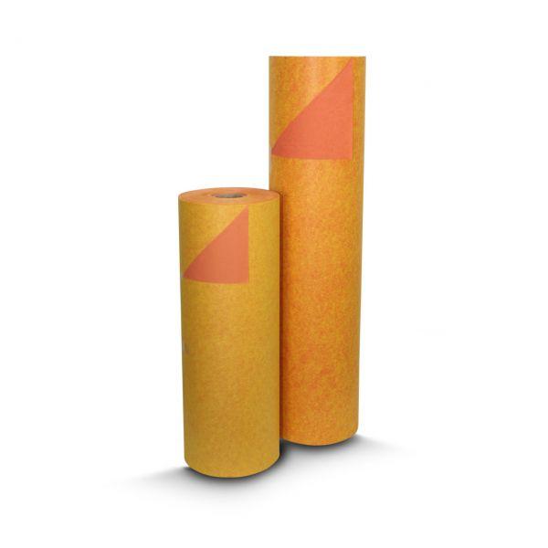 Blumenpapier BiColor gelb/apricot 75cm
