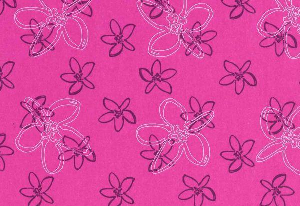 ANGEBOTSPREIS Blumenseidenpapier Petit Fleur pink 75 cm -9kg