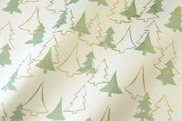 Seidenpapier Weihnachtswald grün-gold 50cm