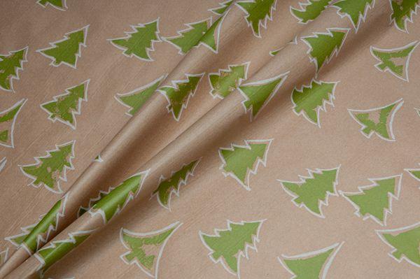 Blumenseidenpapier Tannenwald 75cm grün-weiß
