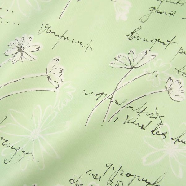 Seidenpapier Swinging Flowers mint-schwarz 75cm