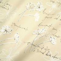 Seidenpapier Swinging Flowers warm-grey schwarz 75cm