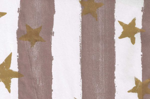 Blumenpapier Toskana Stars taupe-gold 75cm