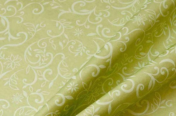 Blumenpapier Ranken grün 75cm