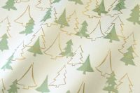 Seidenpapier Weihnachtswald grün-gold 75cm