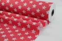 Blumenseidenpapier Shabby Stars 50cm rot