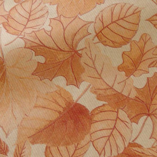 Seidenpapier Blätterrauschen herbstorange 50cm