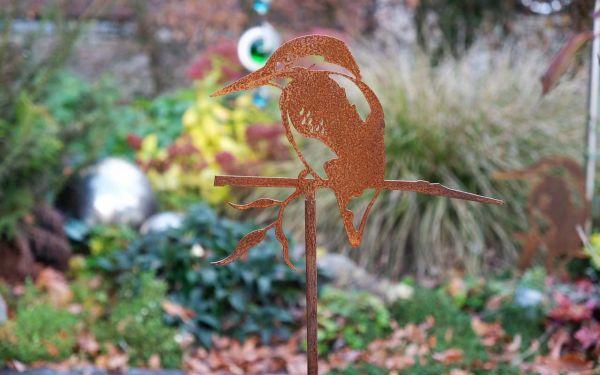 Gartenstecker Glücksvogel Eisvogel
