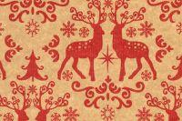 Blumenseidenpapier Nordic Christmas 50cm rot/braun