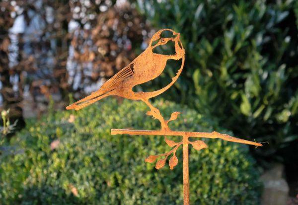 Gartenstecker Glücksvogel Blaumeise
