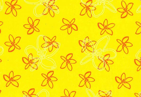 ANGEBOTSPREIS Blumenseidenpapier Petit Fleur gelb 75 cm -9kg-