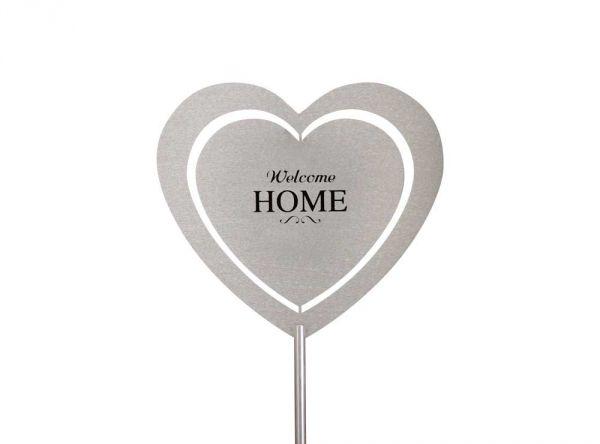 "Gartenstecker Herz ""Welcome Home"""