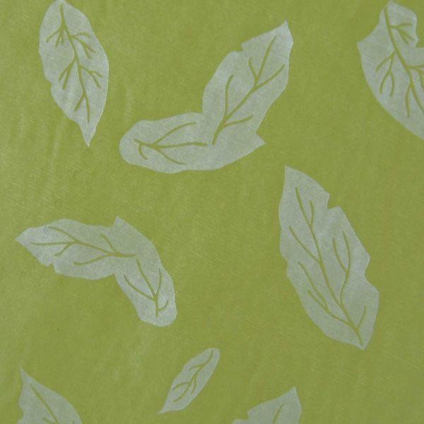 Seidenpapier Blätter lindgrün 75cm