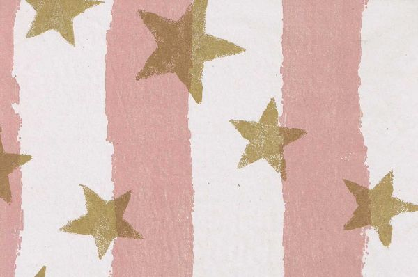 Blumenpapier Toskana Stars altrosa-gold 50cm