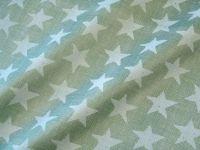 Blumenpapier Sternenmeer piniengrün 50cm